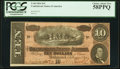 Confederate Notes:1864 Issues, T68 $10 1864 PF-44 Cr. 552 PCGS Choice About New 58PPQ.. ...