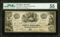 Marshall, MI- Calhoun County Bank $50 Apr. 1, 1837 G14 Lee MAS 1-9 PMG About Uncirculated 55