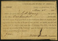 Confederate Notes:Group Lots, Interim Depository Receipt Asheville, NC- $100 Mar. 28, 1864 Tremmel NC-10 Very Fine. ...