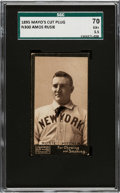 Baseball Cards:Singles (Pre-1930), 1895 N300 Mayo's Cut Plug Amos Rusie (Correct Name) SGC 70 EX+ 5.5 - Only One Higher. ...