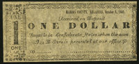 (Yellville) Marion County, AR- (H. & J.R. Granger) $1 Oct. 8, 1862 Rothert 476-3 Remainder Very Fine