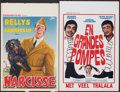 "Movie Posters:Foreign, Narcisse & Other Lot (Standard, R-1940). Folded, Very Fine-. Belgians (4) (13"" X 21.25"" - 14.5"" X 21.5""). Foreign.. ... (Total: 4 Items)"