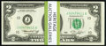 April 13, 1976 First Day of Issue Postal Cancellation Fr. 1935-J $2 1976 Federal Reserve Notes. Fifty Examples. Choice C...