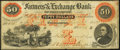 Charleston, SC- Farmers' & Exchange Bank $50 Sep. 1, 1859 G8b Fine