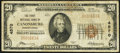Canonsburg, PA - $20 1929 Ty. 1 The First National Bank Ch. # 4570 Very Good-Fine
