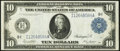 Fr. 939 $10 1914 Federal Reserve Note Very Fine+