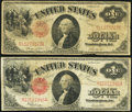 Fr. 36 $1 1917 Legal Tender Very Good; Fr. 39 $1 1917 Legal Tender Very Good-Fine. ... (Total: 2 notes)