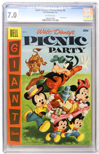 Dell Giant Comics Picnic Party #8 (Dell, 1957) CGC FN/VF 7.0 Off-white pages