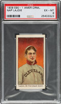 Baseball Cards:Singles (Pre-1930), 1909-11 E90-1 American Caramel Napoleon Lajoie PSA EX-MT 6 - Only Two Higher. ...
