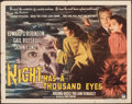"Movie Posters:Film Noir, Night Has a Thousand Eyes (Paramount, 1948). Folded, Fine+. Half Sheet (22"" X 28"") Style B. Film Noir.. ..."