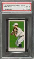 Baseball Cards:Singles (Pre-1930), 1909 E92 Dockman & Sons Hal Chase PSA NM 7 - Pop One, None Higher! ...