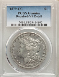 1879-CC $1 -- Repaired -- PCGS Genuine. VF Details. Mintage 756,000....(PCGS# 7086)