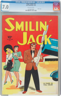 Four Color #4 Smilin' Jack (Dell, 1942) CGC FN/VF 7.0 Off-white pages