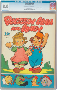 Four Color #5 Raggedy Ann and Andy (Dell, 1942) CGC VF 8.0 Off-white to white pages