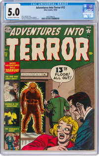 Adventures Into Terror #12 (Atlas, 1952) CGC VG/FN 5.0 Off-white to white pages