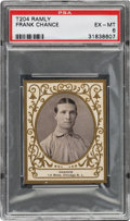Baseball Cards:Singles (Pre-1930), 1909 T204 Ramly Frank Chance PSA EX-MT 6 - Only Four Higher....