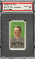 Baseball Cards:Singles (Pre-1930), 1909-11 T206 Sovereign 350 Cy Young (Portrait) PSA EX-MT+ 6.5....
