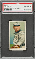 Baseball Cards:Singles (Pre-1930), 1909-11 T206 Piedmont Cy Young (Glove Shows) PSA EX-MT 6....