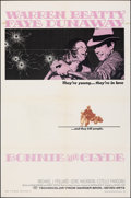 """Movie Posters:Crime, Bonnie and Clyde (Warner Bros-Seven Arts, 1967). Folded, Fine/Very Fine. One Sheet (27"""" X 41""""). Crime.. ..."""