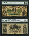 Obsoletes By State:Louisiana, New Orleans, LA- New Orleans Canal and Banking Company $50 18__ G48a Remainder PMG Choice Uncirculated 64 EPQ;. Shreve... (Total: 2 notes)