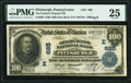Pittsburgh, PA - $100 1902 Date Back Fr. 689 The Farmers Deposit National Bank Ch. # (E)685 PMG Very Fine 25