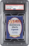 Memorabilia:Trading Cards, Magic: The Gathering Legends Unopened Pack PSA 10 (Wizards of the Coast, 1994)....