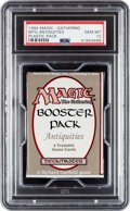 Memorabilia:Trading Cards, Magic: The Gathering Antiquities Edition Unopened Pack PSA 10 (Wizards of the Coast, 1994)....