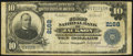 Jackson, TN - $10 1902 Plain Back Fr. 631 The First National Bank Ch. # 2168 Very Good-Fine