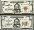 Fr. 1880-D $50 1929 Federal Reserve Bank Notes. Two Examples. Very Fine-Extremely Fine or Better. ... (Total: 2 notes)