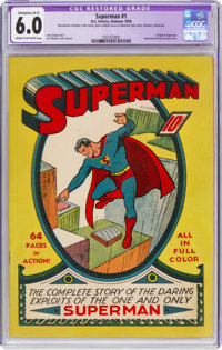 Superman #1 (DC, 1939) CGC Apparent FN 6.0 Extensive (A-5) Cream to off-white pages