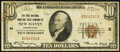 New Haven, CT - $10 1929 Ty. 1 The First National Bank & Trust Company Ch. # 2 Fine