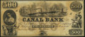 Obsoletes By State:Louisiana, New Orleans, LA- New Orleans Canal and Banking Company $500 18__ Remainder Crisp Uncirculated.. ...
