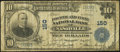 Nashville, TN - $10 1902 Plain Back Fr. 628 Fourth & First National Bank Ch. # 150 Very Good-Fine.<
