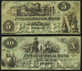 Portland, ME- International Bank $5; $10 Aug. 1, 1862 Very Good-Fine or Better. ... (Total: 2 notes)