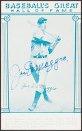 Autographs:Index Cards, Joe DiMaggio Signed Hall of Fame Card....