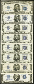 Fr. 1651* $5 1934A Silver Certificate. Very Fine; Fr. 1652 $5 1934B Silver Certificate. About Uncirculated; Fr. 1654...