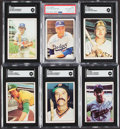 Autographs:Sports Cards, 1975 SSPC Baseball Signed Card Collection (6)....