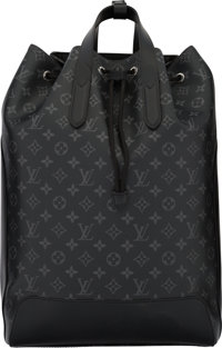 "Louis Vuitton Monogram Eclipse Explorer Backpack Condition: 1 12"" Width x 17.5"" Height x 6.5"" Dep"