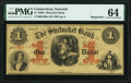 Norwich, CT- Shetucket Bank $1 Jan. 1, 186_ Remainder PMG Choice Uncirculated 64