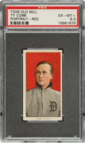 Baseball Cards:Singles (Pre-1930), 1909-11 T206 Old Mill 150/25 Ty Cobb (Portrait-Red) PSA EX-MT+ 6.5. ...