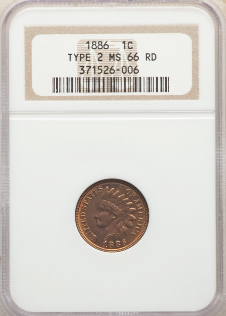 1886 1C Type Two, MS, RD 66 NGC