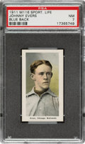 Baseball Cards:Singles (Pre-1930), 1910-11 M116 Sporting Life Johnny Evers (Pastel Background) PSA NM 7....