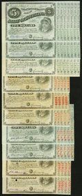 Obsoletes By State:Louisiana, (Baton Rouge), LA- State of Louisiana $5 1870s, Ten Examples About Uncirculated or Better. ... (Total: 10 notes)