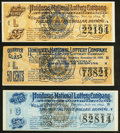 Obsoletes By State:Louisiana, Louisiana State Lottery Company/Honduras National Lottery Company Tickets 25¢; 50¢; $1 1894-1900 Very Fine or Better.. ... (Total: 3 items)