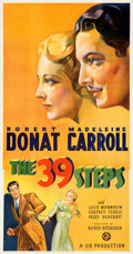 """Movie Posters:Hitchcock, The 39 Steps (Gaumont, 1935). Very Fine- on Linen. Three Sheet (41.5"""" X 79.5"""").. ..."""