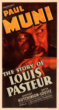 """Movie Posters:Drama, The Story of Louis Pasteur (Warner Bros., 1935). Very Fine- on Linen. Three Sheet (41"""" X 76"""").. ..."""