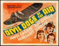 """Movie Posters:Action, Devil Dogs of the Air (Warner Bros., 1935). Very Fine. Title Lobby Card (11"""" X 14"""").. ..."""