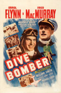 """Movie Posters:Action, Dive Bomber (Warner Bros., 1941). Fine+ on Linen. One Sheet (27"""" X 41"""").. ..."""