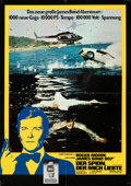 """Movie Posters:James Bond, The Spy Who Loved Me (United Artists, 1977). Folded, Fine/Very Fine. German A1s (3) (16.5"""" X 23.25""""). Photo Style Seiko Watc... (Total: 3 Items)"""