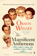 """Movie Posters:Drama, The Magnificent Ambersons (RKO, 1942). Very Fine+ on Linen. One Sheet (27"""" X 41""""). Style A, Norman Rockwell Artwork.. ..."""